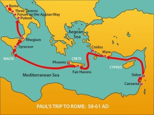 Paul Brought To Rome x2